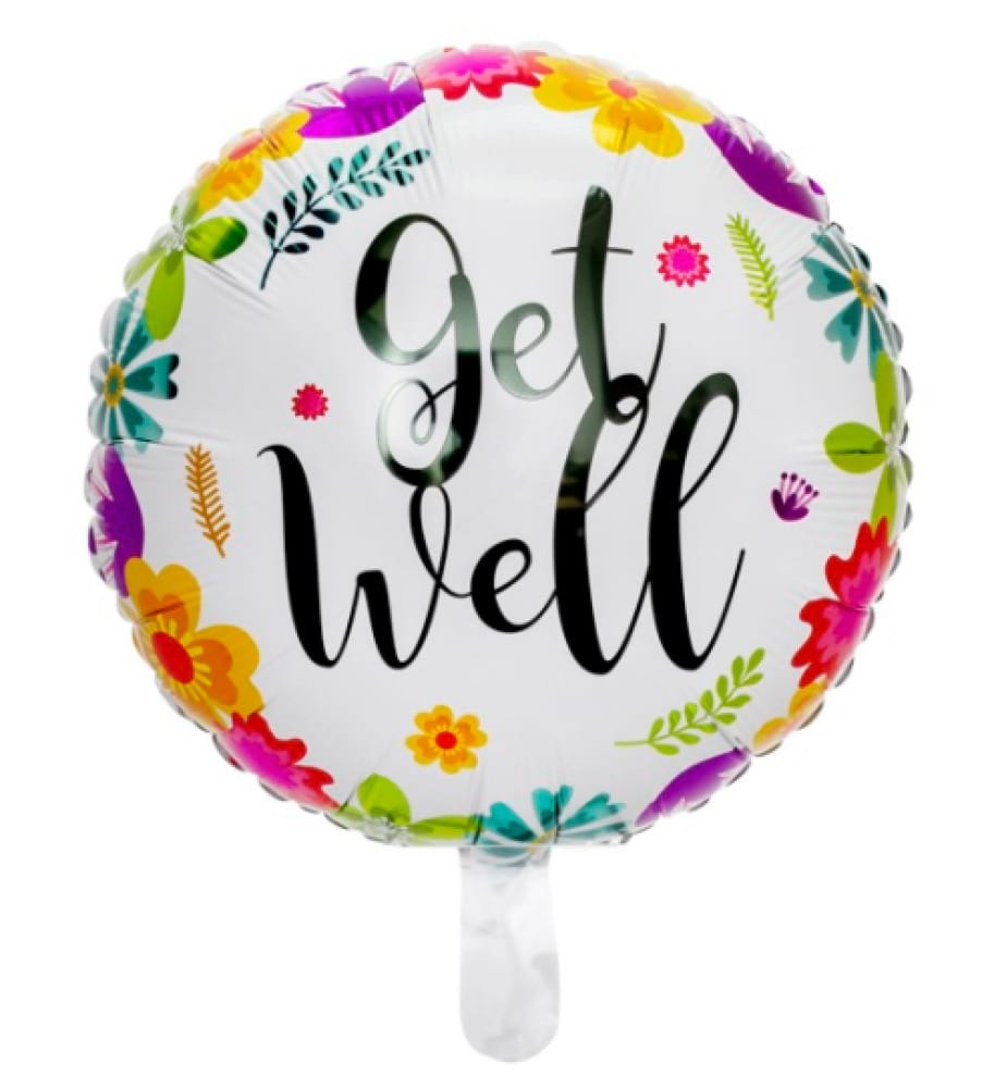 Helium foil - Get well