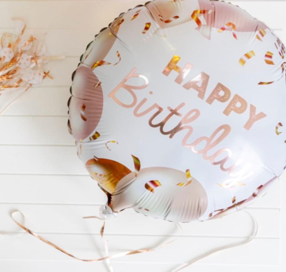 Helium foil - Happy Birthday Rosegold