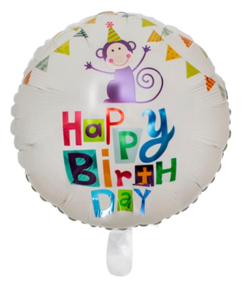 Helium foil - Happy Birthday little monkey