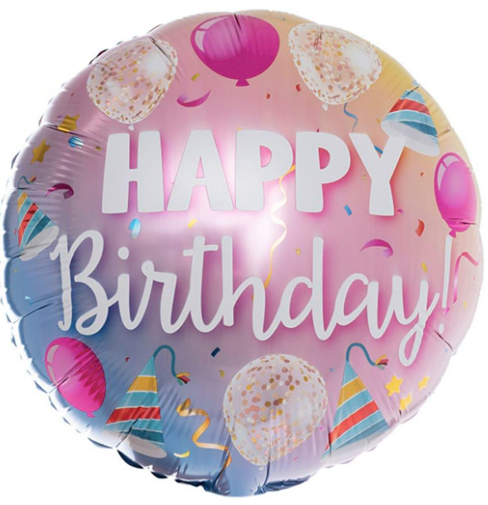 Helium Foil Balloon- Happy Birthday!