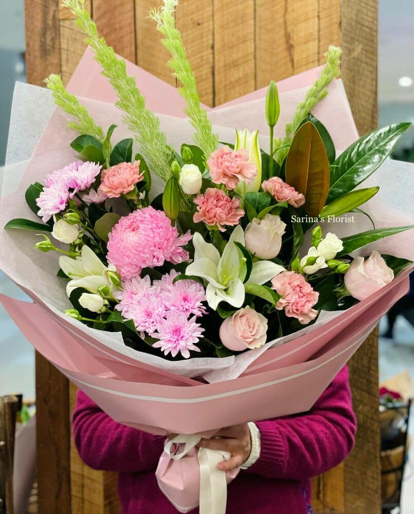Lush pink bouquet