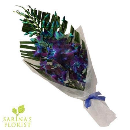 Orchids Wrap - Blue