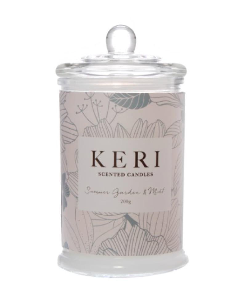 Keri Scented Jar Candle - Summer Garden & Mint