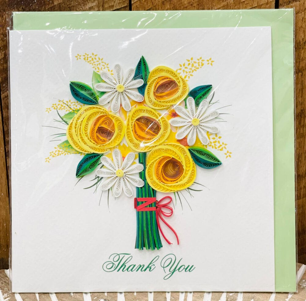 Handmade quilling card - Thank you