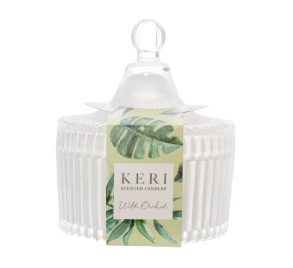 Keri Scented Jar Candle - Wild Orchid (large)