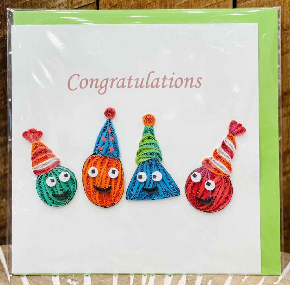Handmade quilling card - Congratulations