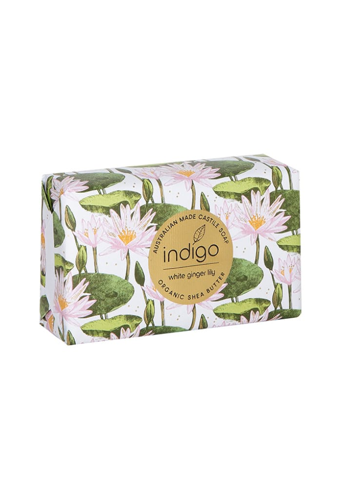 Organic Shea Butter Soap in White Ginger Lily