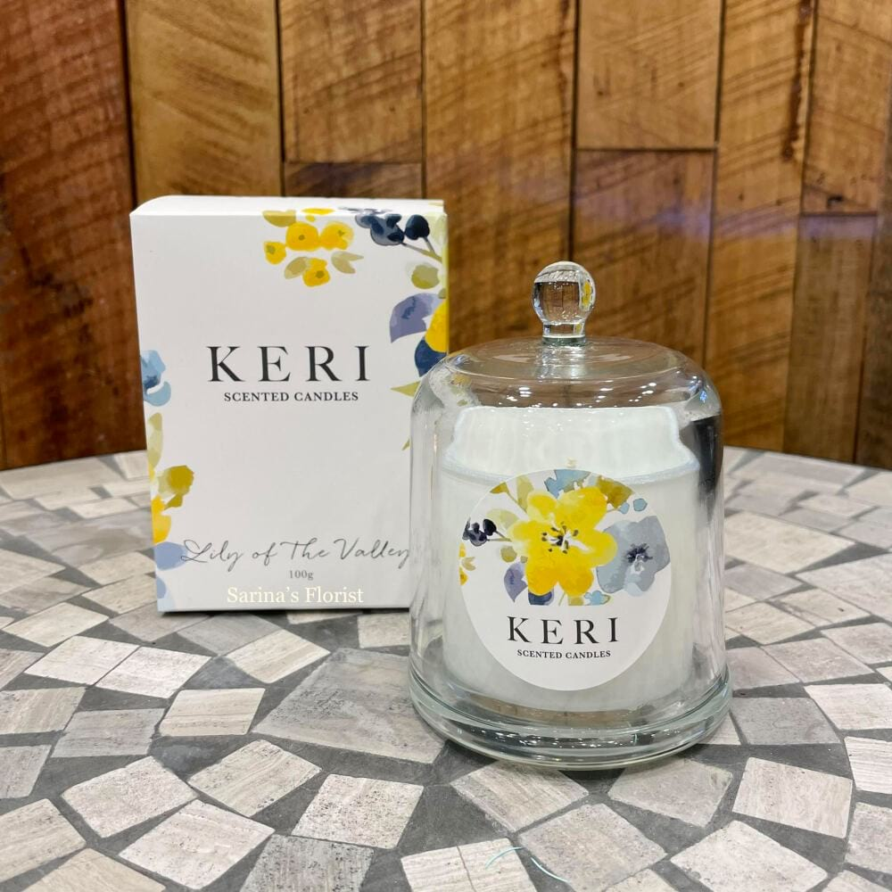 KERI scented cloche candles - Lily of the Valley