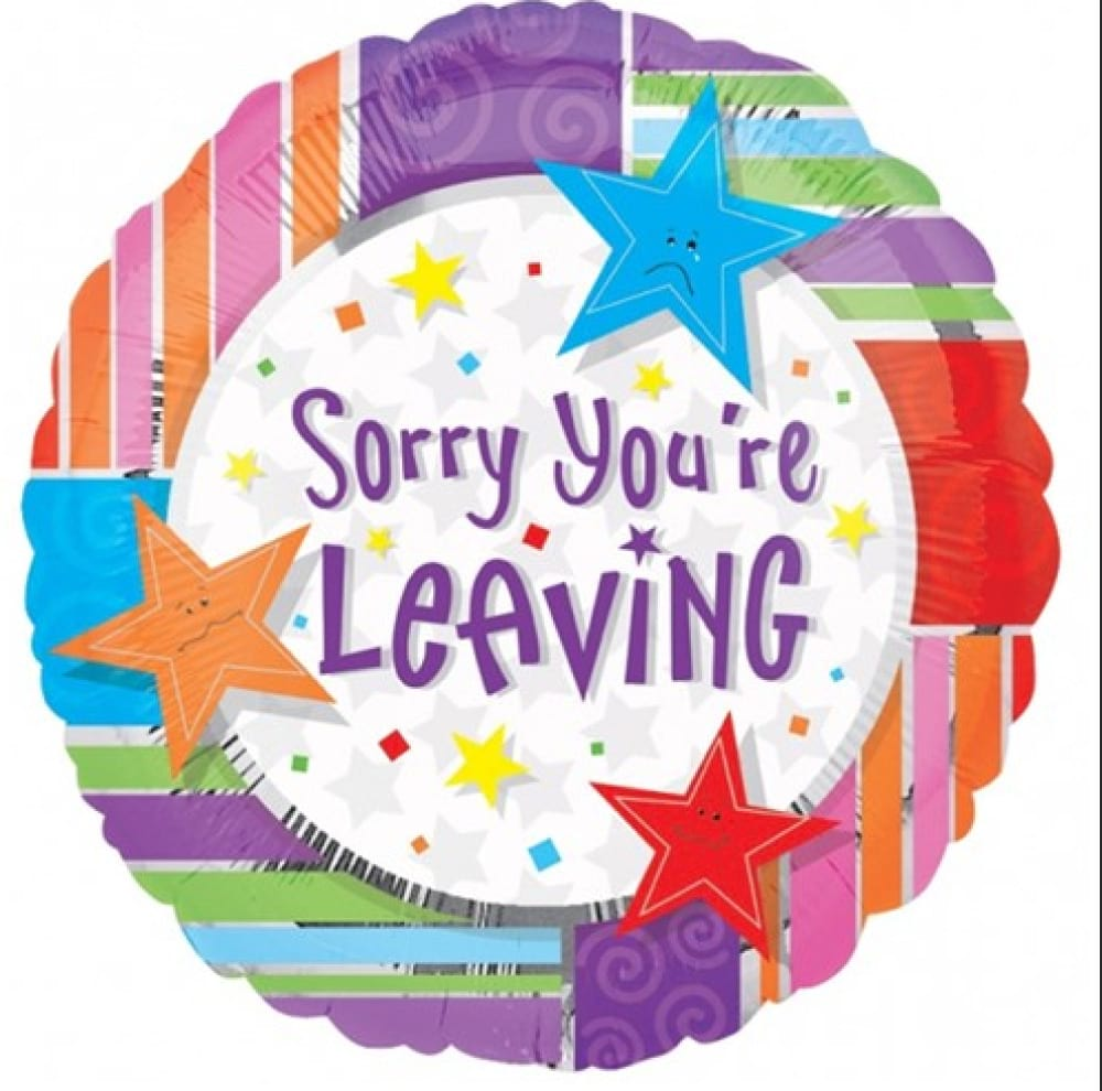 Helium foil - sorry you are leaving