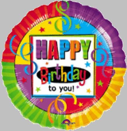 Air Stick Balloons - Happy Birthday!