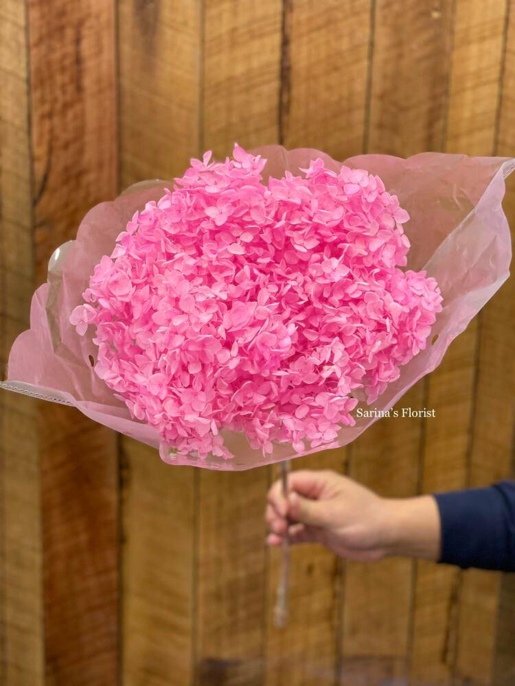 Hot pink preserved hydrangea