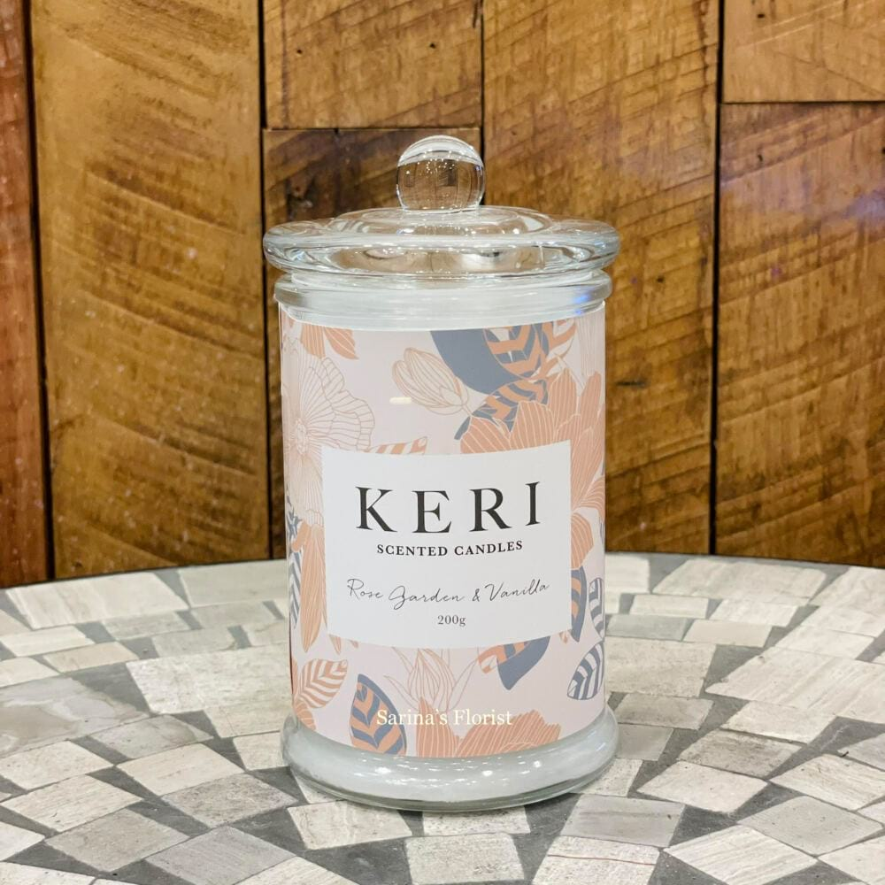 KERI scented jar candles - Rose garden and vanilla