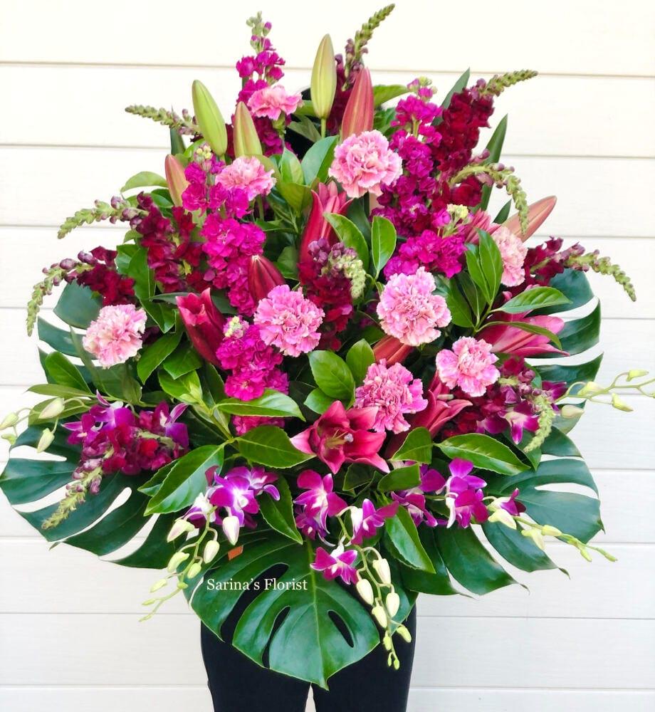 Grand opening flower basket