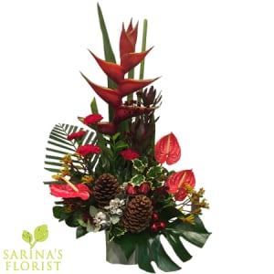 Premium Festive Arrangement in Ceramic Pot
