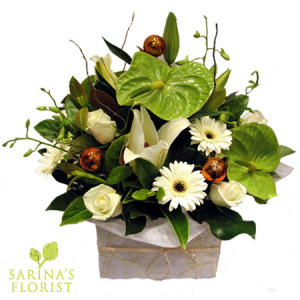 Elegant Festive Box Arrangement