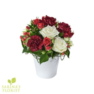 Good Tidings - Festive Arrangement in a Ceramic Vase
