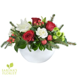 Christmas Joy - Large Festive Arrangement in a Ceramic Container