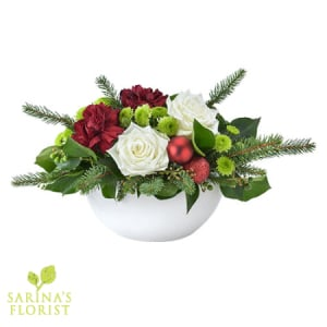 Festive Treasure - Festive Arrangement in a Ceramic Bowl