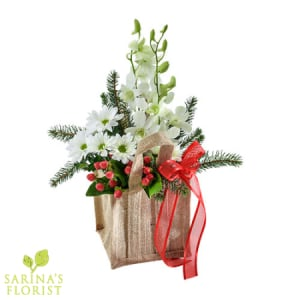 Santa`s Little Helper - Festive Arrangement in a Gift Bag