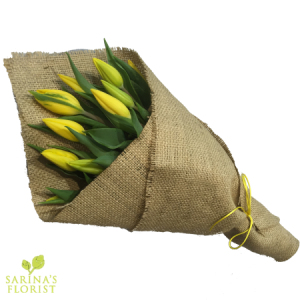 Wrapped Tulips - Yellow