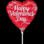 Air Stick Balloons - Happy Valentine`s Day!